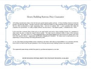 HBS Price Guarantee certificate 05.13 pic